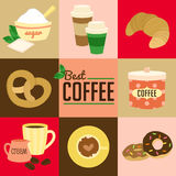 Coffee symbol vector Royalty Free Stock Images