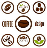 Coffee symbols Stock Photography