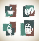 Coffee symbols Royalty Free Stock Images