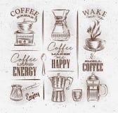 Coffee symbols brown Stock Photo