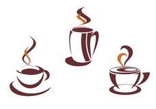 Coffee symbols Stock Images