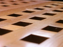 Coffee Table 1. Closeup of a wooden coffee table Royalty Free Stock Photo