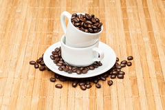 Coffee on the table. Coffee on the wooden background Royalty Free Stock Photography