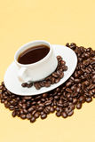 Coffee on the table. Coffee on the wooden background Stock Photos