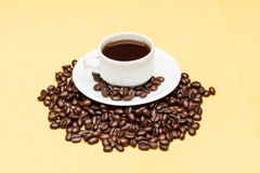 Coffee on the table. Coffee on the wooden background Stock Photo