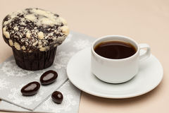 Coffee on the table. Coffee and muffin on  the table Royalty Free Stock Photography