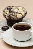 Coffee on the table. Coffee and muffin on  the table Stock Images