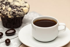 Coffee on the table. Coffee and muffin on  the table Royalty Free Stock Image