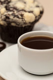 Coffee on the table. Coffee and muffin on  the table Stock Photo