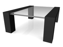 Coffee table. 3D render Maya mental ray stock illustration