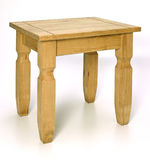 Coffee table. Isolated chunky pine coffee table Royalty Free Stock Image
