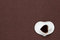 Coffee on the table cloth Royalty Free Stock Image