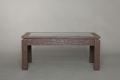 Coffee table dark wood Stock Photo