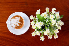 Coffee on table Royalty Free Stock Image