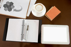 Coffee and Tablet PC Stock Photo