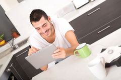 Coffee and Tablet PC Royalty Free Stock Images