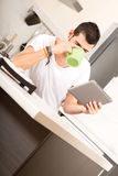 Coffee and Tablet PC Stock Image