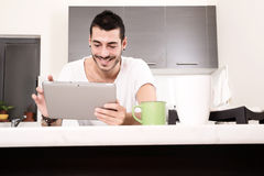 Coffee and Tablet PC Stock Photos