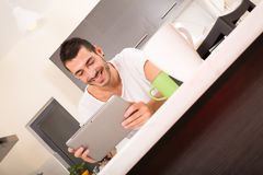 Coffee and Tablet PC Royalty Free Stock Photos