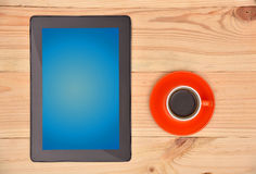 Coffee and tablet Royalty Free Stock Photo