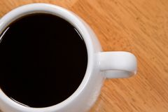 Coffee on a Tabletop Stock Image