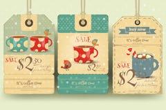 Coffee Tags Set Royalty Free Stock Photos
