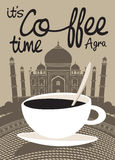 Coffee Taj Mahal Royalty Free Stock Images
