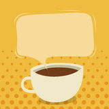 Coffee Talk. Vector illustration of a cup of coffee with talk bubble Royalty Free Stock Photos