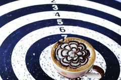 Coffee Target on the dart for business Concept Stock Image