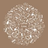 Coffee tea background. Vector graphic illustration design Royalty Free Stock Image