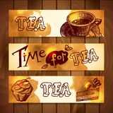 Coffee and tea banners Royalty Free Stock Photo