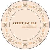 Coffee and tea creative simple frame Royalty Free Stock Photos