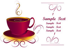 Coffee or tea cup. With Copy space stock illustration