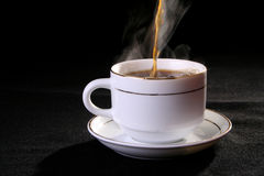 Coffee and tea cup. Sprightliness, cheerfulness, coffee-beans, tea-party, breakfast Stock Photography