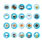 Coffee and tea cup icons set. Royalty Free Stock Image