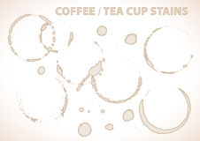 Coffee or tea cup stains Stock Image