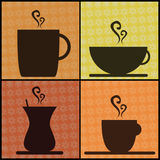 Coffee And Tea Cups. Vector illustration of coffee and tea cups Royalty Free Stock Photo