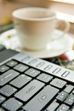 Coffee and tea cups Stock Photo