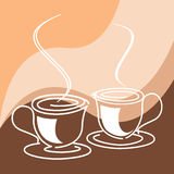 Coffee or tea cups Royalty Free Stock Photography