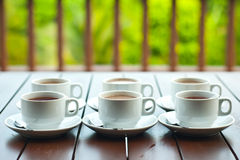 Coffee and Tea. Cups of coffee and tea Royalty Free Stock Image
