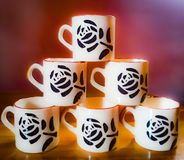 Coffee and Tea Cups stock images