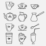 Coffee and tea cups. Stock Images