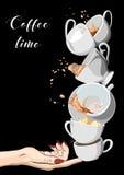 Coffee and Tea cups set. Illustration eps10 Stock Image