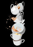 Coffee and Tea cups set. Illustration eps10 Stock Photography