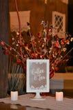 Coffee and Tea Decorative Sign. Indoors coffee and tea decorative sign in a white frame stand Stock Photos