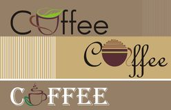 Coffee and tea design Royalty Free Stock Photos
