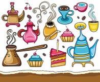 Coffee, and tea design elements stock illustration