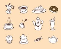 Coffee and tea design elements Royalty Free Stock Image