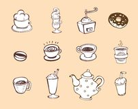 Coffee and tea design elements Royalty Free Stock Photography