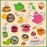 Coffee and tea design elements Stock Image